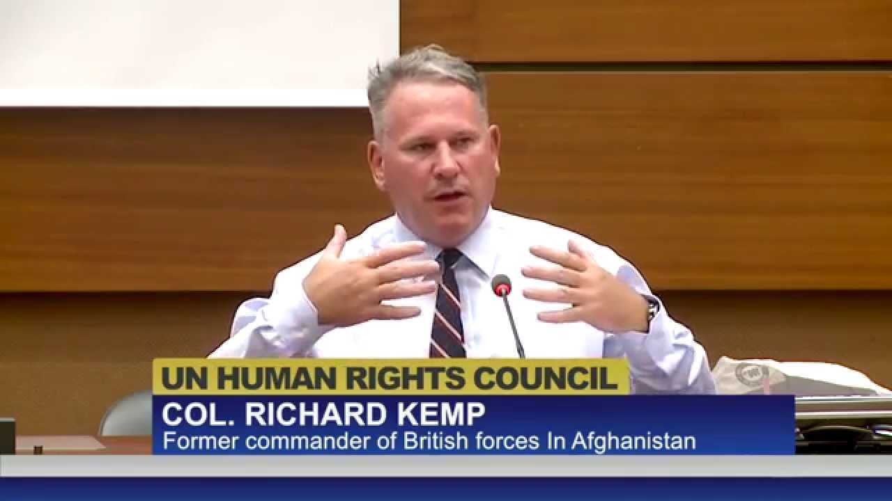 Il discorso del Colonnello veterano Inglese Richard Kemp all'Onu